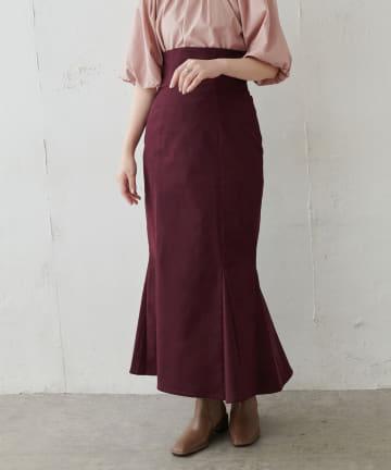 natural couture(ナチュラルクチュール) ハイウエストマーメイドスカート