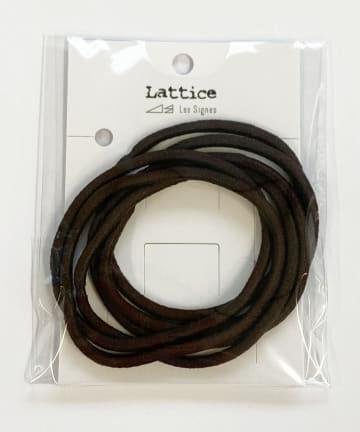 Lattice(ラティス) シンプルヘアゴム6本SET
