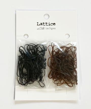 Lattice(ラティス) シリコンヘアゴム(25mm)100本SET