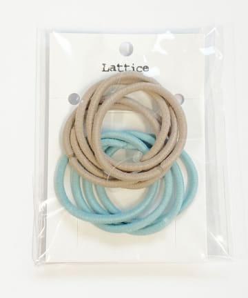 Lattice(ラティス) カラーヘアゴム10本SET