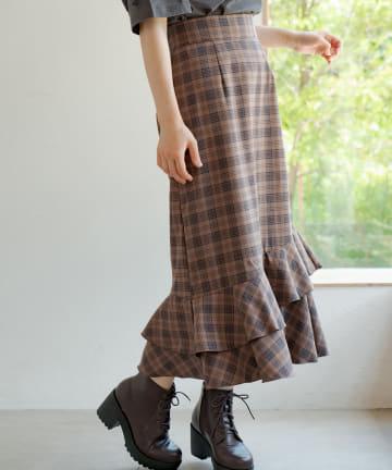 OLIVE des OLIVE(オリーブ デ オリーブ) フリルマーメイドスカート