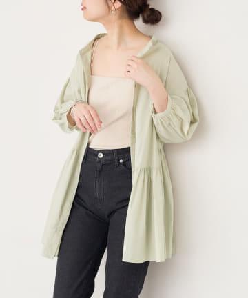 natural couture(ナチュラルクチュール) 【WEB限定カラー有り】アシメティアードバンドカラーブラウス