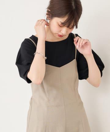 natural couture(ナチュラルクチュール) 【WEB限定】ランタンスリーブT