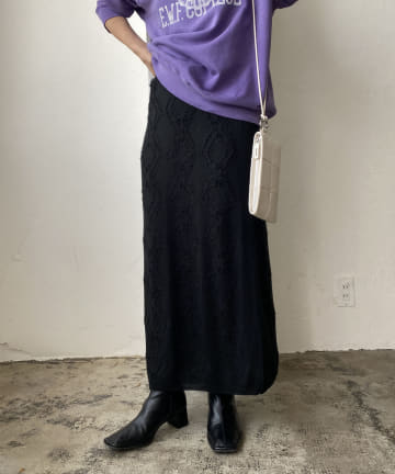CAPRICIEUX LE'MAGE(カプリシュレマージュ) ダイヤフリンジスカート