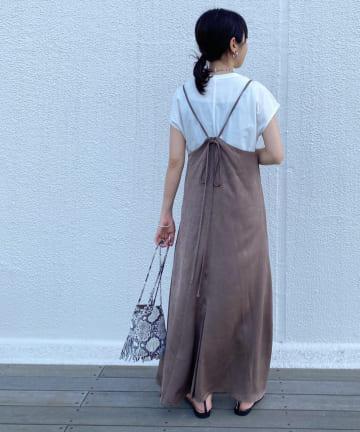 Loungedress(ラウンジドレス) 【odore/オドル】バックデザインキャミワンピース
