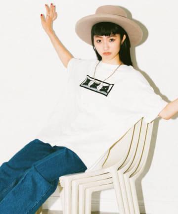 La boutique BonBon(ラブティックボンボン) 《予約》【相川茉穂さんコラボ】 Cat BigTシャツ