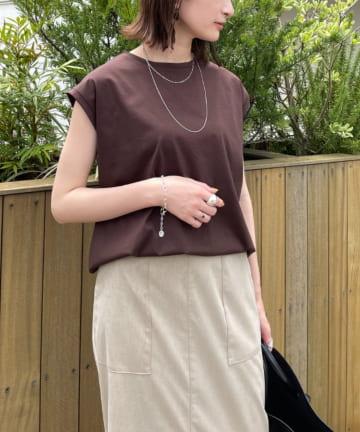 Loungedress(ラウンジドレス) シルケットフレンチTシャツ