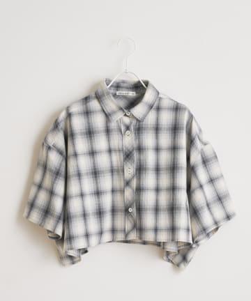 NICE CLAUP OUTLET(ナイスクラップ アウトレット) チェック開襟ショートシャツ