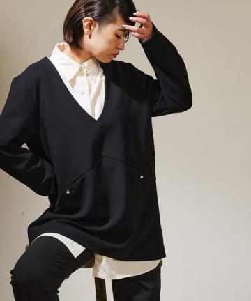 ear PAPILLONNER(イア パピヨネ) 【SUM1 STYLE(スミ スタイル)】ボタンジャケット風トップス
