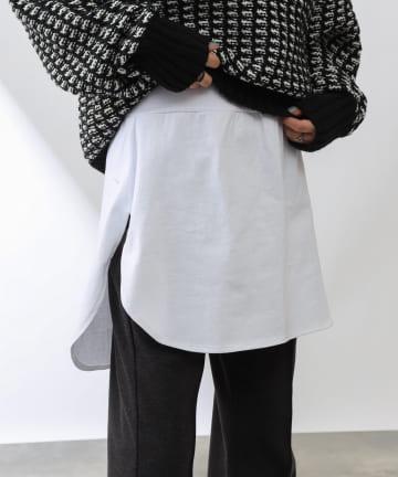 COLONY 2139(コロニー トゥーワンスリーナイン) コットン天竺TEEライク付け裾