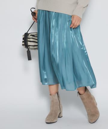 La boutique BonBon(ラブティックボンボン) 【濡れたようなツヤが美しい】リキッドスカート