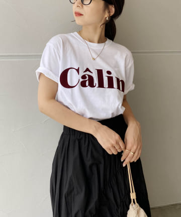CAPRICIEUX LE'MAGE(カプリシュレマージュ) ピグメントロゴTシャツ