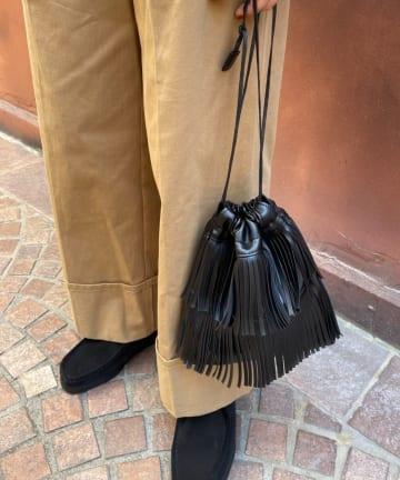 CIAOPANIC(チャオパニック) フリンジ巾着ショルダーバック