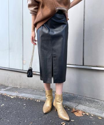 Loungedress(ラウンジドレス) エコレザータイトスカート