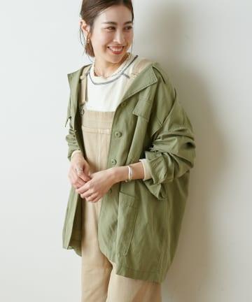 OUTLET(アウトレット) 【CIAOPANIC TYPY】光沢リネンBIGシャツジャケット