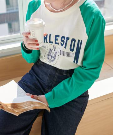 Discoat(ディスコート) 【ARTEX/アルテックス】ラグラン配色ロングTシャツ
