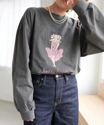 Discoat(ディスコート) BETTYチュニックロングTシャツ