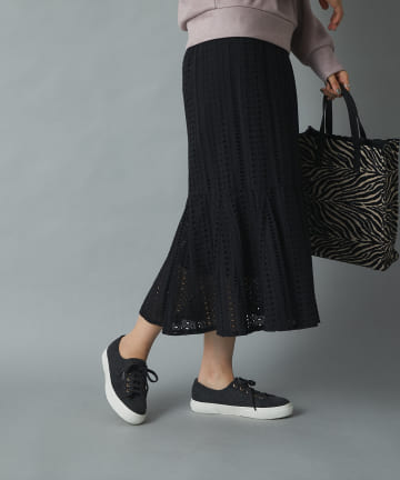 un dix cors(アンディコール) 【こだわりのシルエット】レースマーメード切替スカート