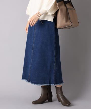 un dix cors(アンディコール) 《予約》【大人のOFFスタイル】デニムバックスリットロングスカート