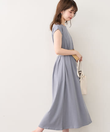 natural couture(ナチュラルクチュール) ノースリーブAラインワンピース