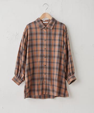 OLIVE des OLIVE OUTLET(オリーブ・デ・オリーブ アウトレット) オンブレーチェックBIGシャツ
