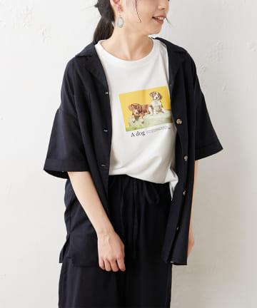 OLIVE des OLIVE OUTLET(オリーブ・デ・オリーブ アウトレット) 【dsf】Open Collar Shirt