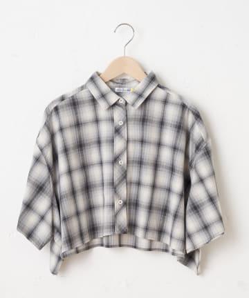OLIVE des OLIVE OUTLET(オリーブ・デ・オリーブ アウトレット) 【dsf】Plaid Cropped Shirt