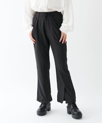 OLIVE des OLIVE OUTLET(オリーブ・デ・オリーブ アウトレット) 【dsf】Hem Slit Center Crease Pants