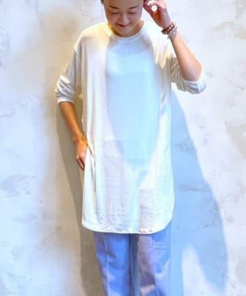 BEARDSLEY(ビアズリー) イニシャル刺繍シンプルロンT
