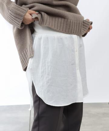 COLONY 2139(コロニー トゥーワンスリーナイン) エステルワッシャーシャツライク付け裾