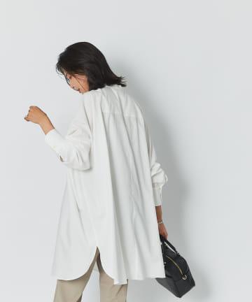 RIVE DROITE(リヴドロワ) 【纏うだけで今っぽいシルエットが完成】ビブカラーオーバーワイドシャツ