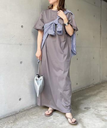 DOUDOU(ドゥドゥ) 【WEB限定】半袖カットワンピース