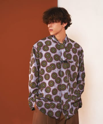 Lui's(ルイス) 【FUMIE=TANAKA×Lui's/フミエ タナカ】ローズデシンタイシャツ