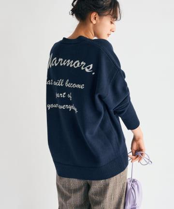 La boutique BonBon(ラブティックボンボン) 《予約》【刺繍ロゴがポイント・マルモア・手洗い】バックエンブロイダリニット