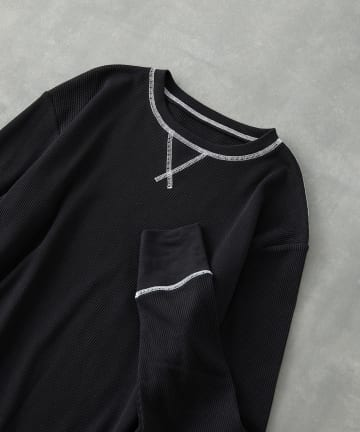 COLONY 2139(コロニー トゥーワンスリーナイン) BIGピスネームワッフルガゼット付き長袖Tシャツ