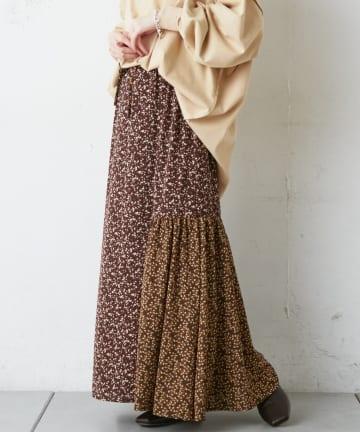 CIAOPANIC TYPY(チャオパニックティピー) 花柄ミックススカート
