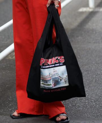 CIAOPANIC TYPY(チャオパニックティピー) PINKSフォトプリントキャンバスバッグ