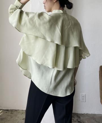 CAPRICIEUX LE'MAGE(カプリシュレマージュ) バックフリル長袖シャツ