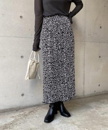 CAPRICIEUX LE'MAGE(カプリシュレマージュ) フラワープリーツスカート