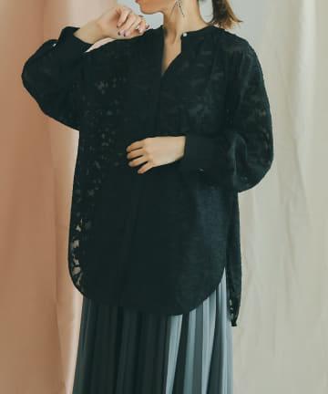 mona Belinda(モナ ベリンダ) 《秋冬仕様》シアージャガードバックリボンシャツ