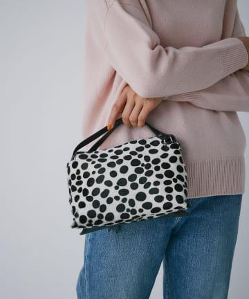 La boutique BonBon(ラブティックボンボン) 《予約》【上質素材で上品カジュアル・リパーニ】カーフヘアバッグ