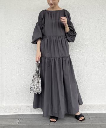 Loungedress(ラウンジドレス) 【odore/オドル】バックリボンティアードワンピース
