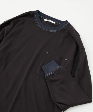 COLONY 2139(コロニー トゥーワンスリーナイン) ギザコットン天竺ポケット付き配色ロンT