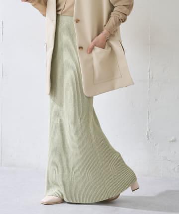 Discoat(ディスコート) リブニットマーメイドスカート