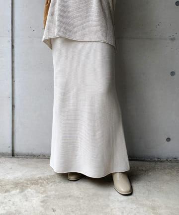 CAPRICIEUX LE'MAGE(カプリシュレマージュ) コットンニットマーメイドスカート