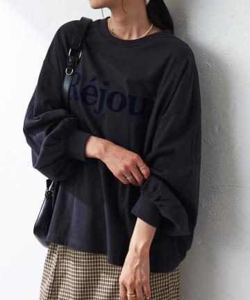 Discoat(ディスコート) 【ベストセラー】新色追加!フロッキープリントロングTシャツ