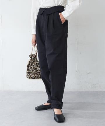 Discoat(ディスコート) リップストップ裾タブカーゴパンツ