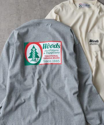 CIAOPANIC TYPY(チャオパニックティピー) 【WOODS / ウッズ】スーパーヘビー ポケットロングT-shirt