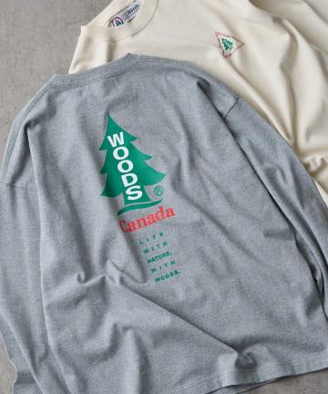 CIAOPANIC TYPY(チャオパニックティピー) 【WOODS / ウッズ】スーパーヘビープリントロングTシャツ