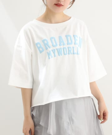 NICE CLAUP OUTLET(ナイスクラップ アウトレット) 【one afteranother】カレッジショートTee